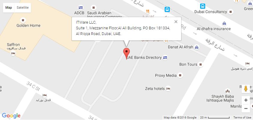 itware dubai map address